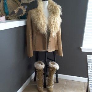 Authentic Coach boots & Authentic Guess Coat